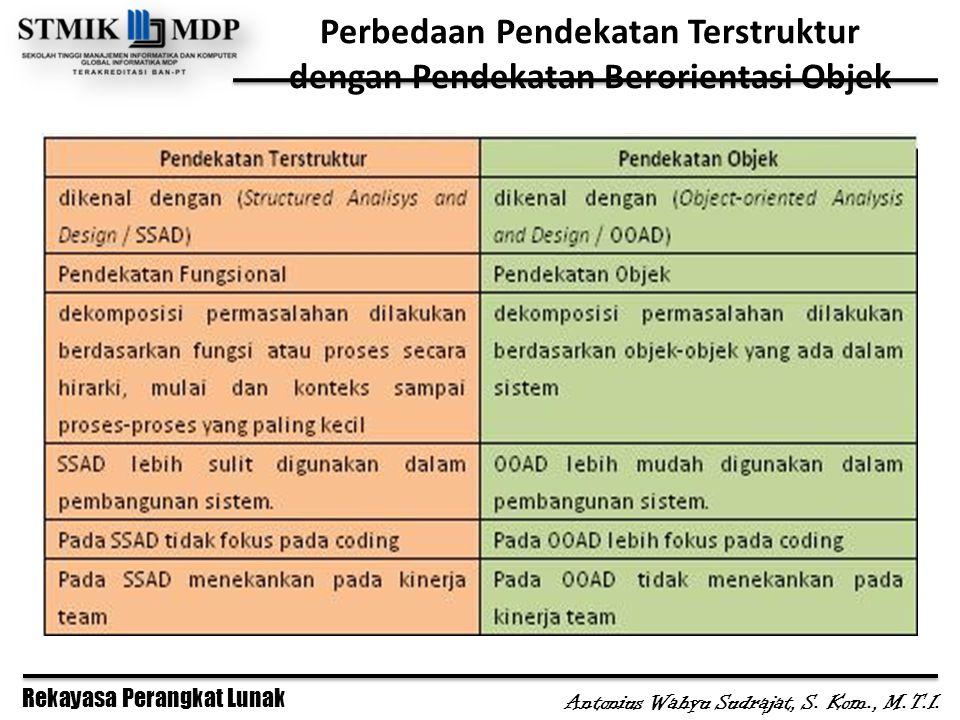 Perbedaan Pendekatan Terstruktur dengan Pendekatan Berorientasi Objek