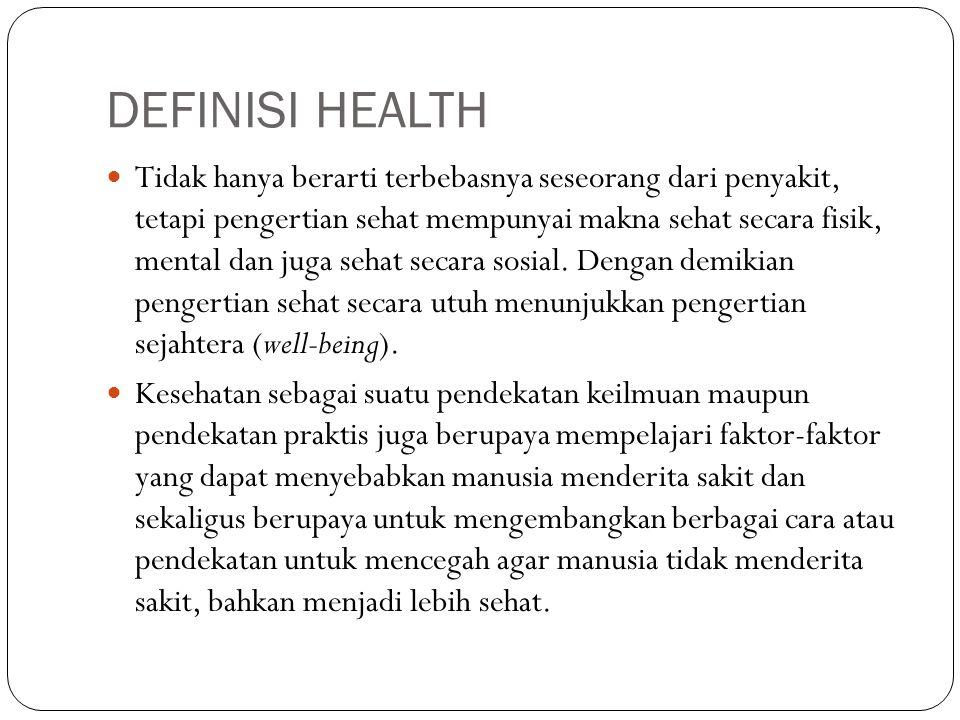 DEFINISI HEALTH