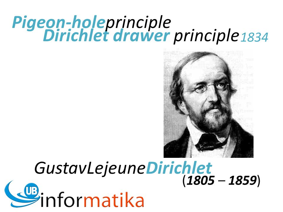 Pigeon-holeprinciple Dirichlet drawer principle