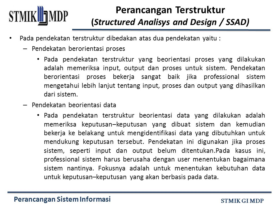 Perancangan Terstruktur (Structured Analisys and Design / SSAD)