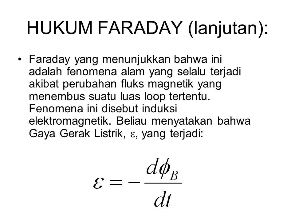 HUKUM FARADAY (lanjutan):