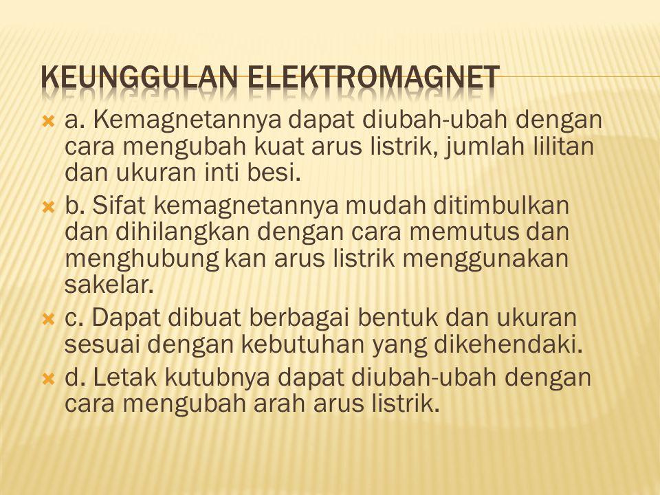 Keunggulan elektromagnet