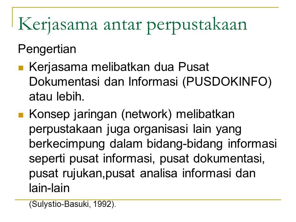 Kerjasama antar perpustakaan