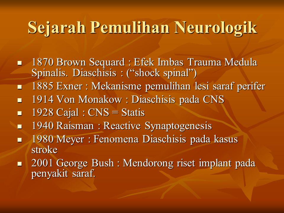 Sejarah Pemulihan Neurologik