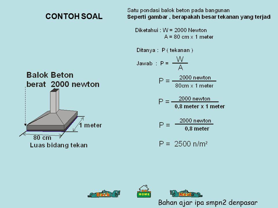 CONTOH SOAL Bahan ajar ipa smpn2 denpasar