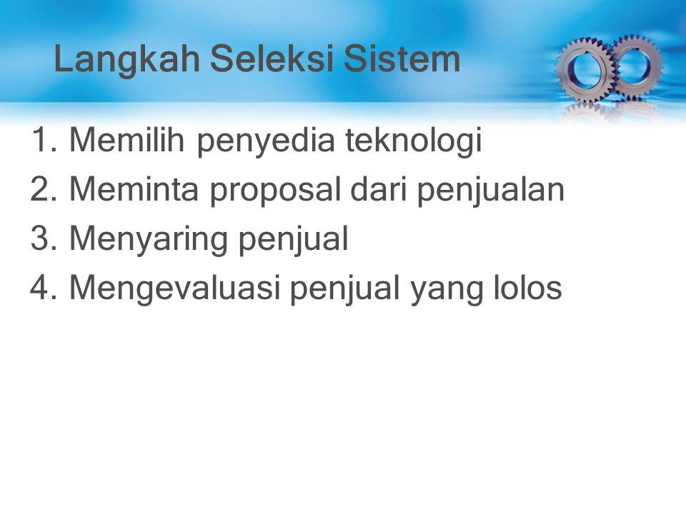 Langkah Seleksi Sistem