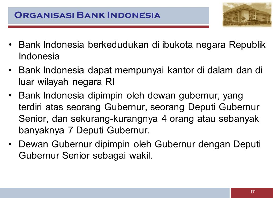 Organisasi Bank Indonesia