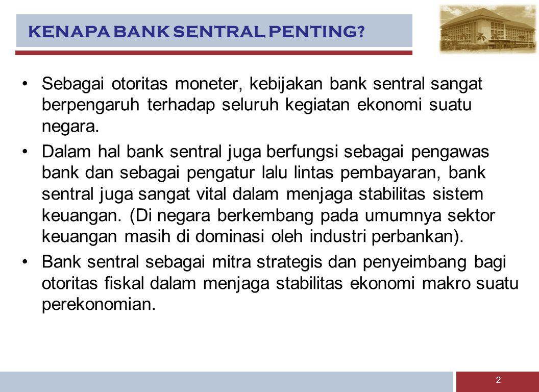 KENAPA BANK SENTRAL PENTING