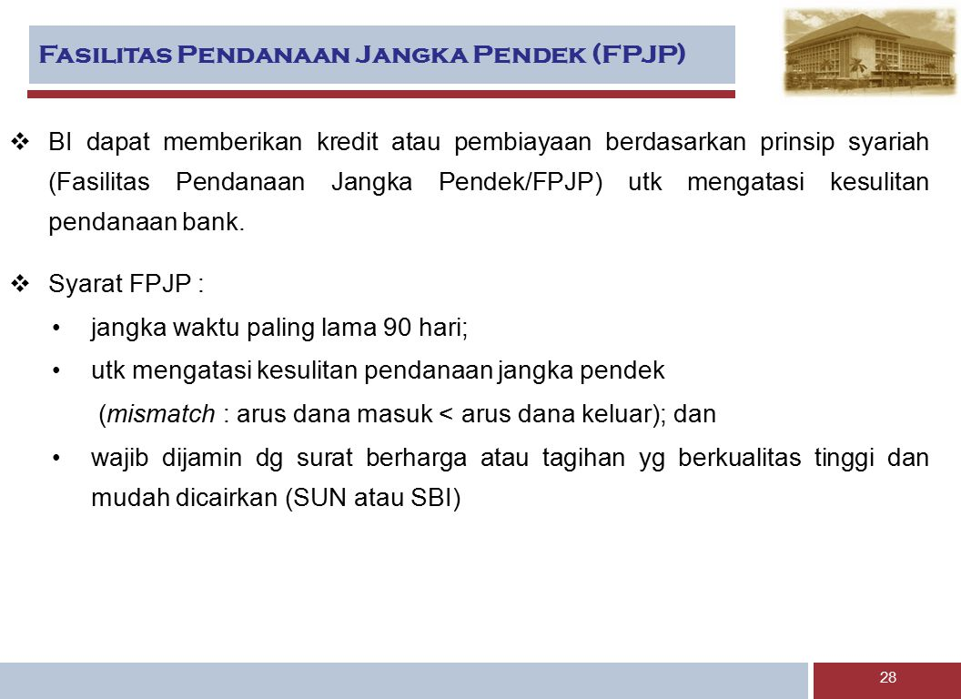 Fasilitas Pendanaan Jangka Pendek (FPJP)