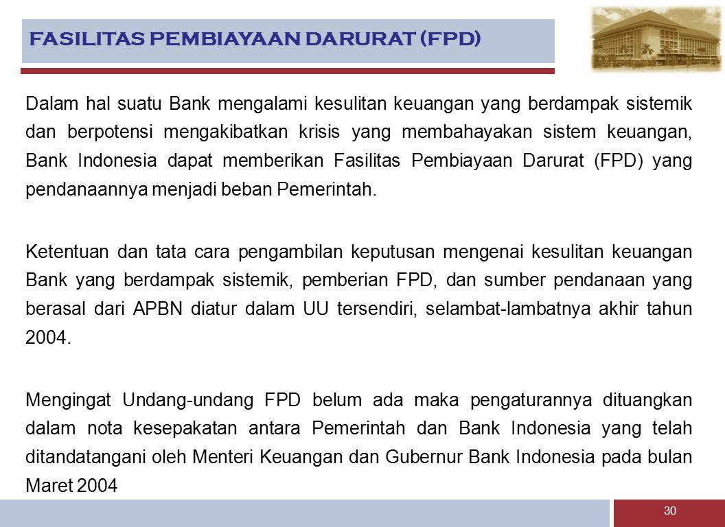 FASILITAS PEMBIAYAAN DARURAT (FPD)