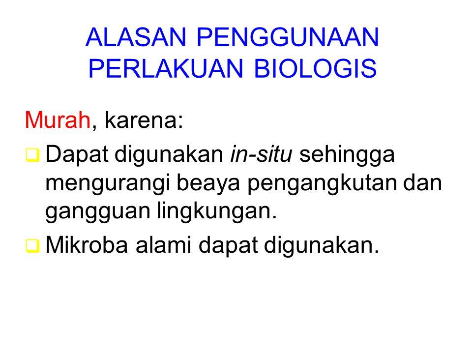 ALASAN PENGGUNAAN PERLAKUAN BIOLOGIS