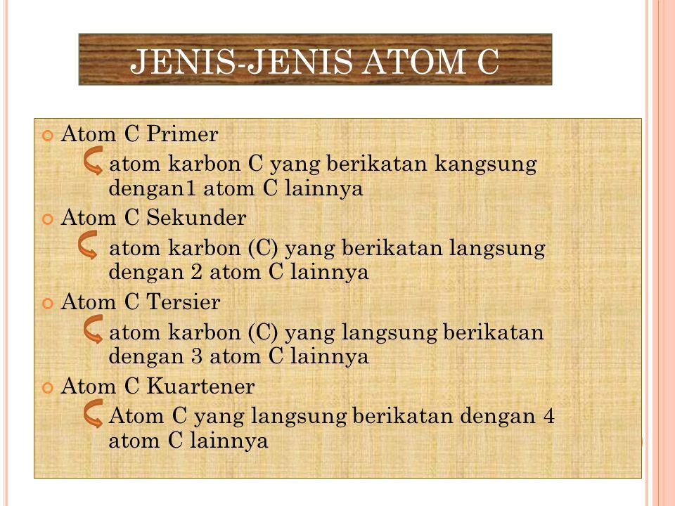 JENIS-JENIS ATOM C Atom C Primer