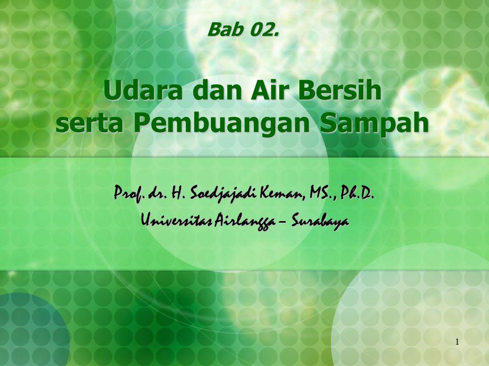 Bab 02. Udara dan Air Bersih serta Pembuangan Sampah