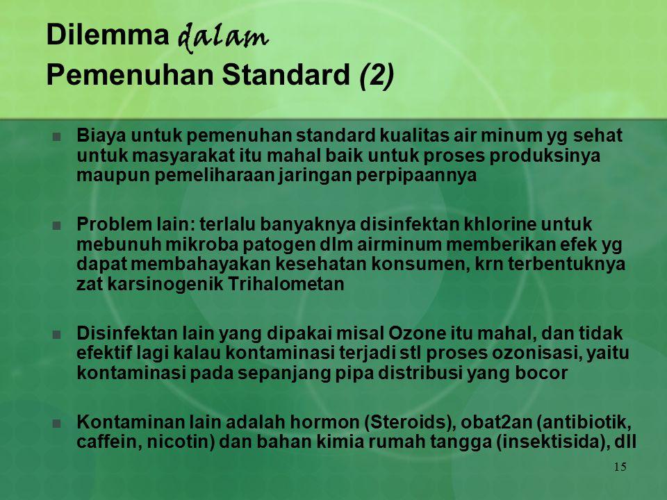Dilemma dalam Pemenuhan Standard (2)