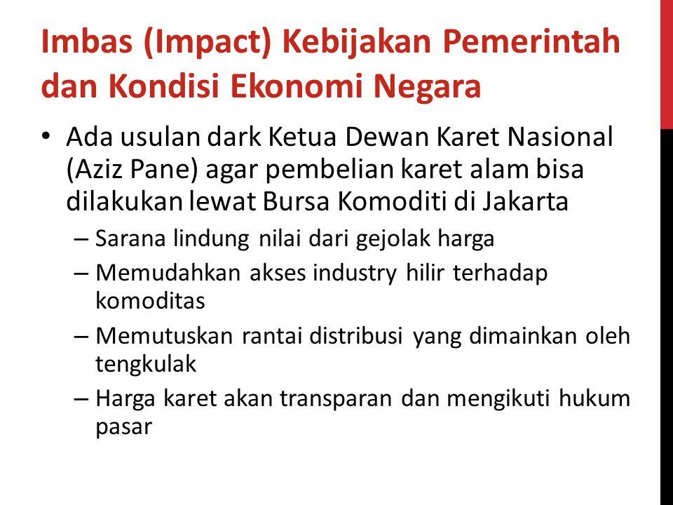 Imbas (Impact) Kebijakan Pemerintah dan Kondisi Ekonomi Negara