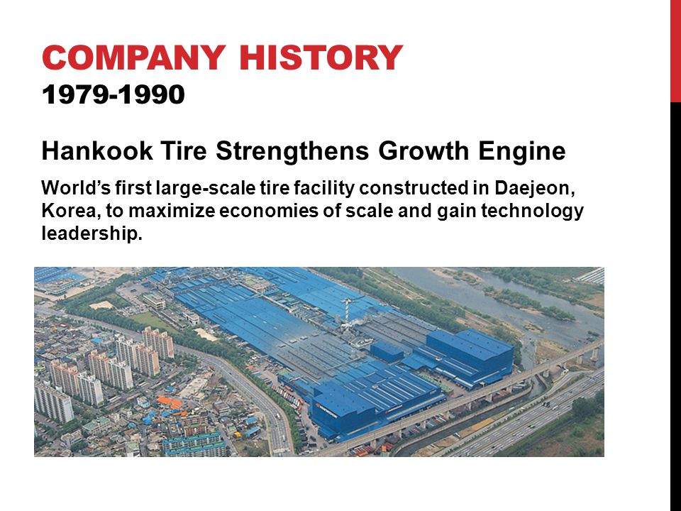 Company history 1979-1990 Hankook Tire Strengthens Growth Engine