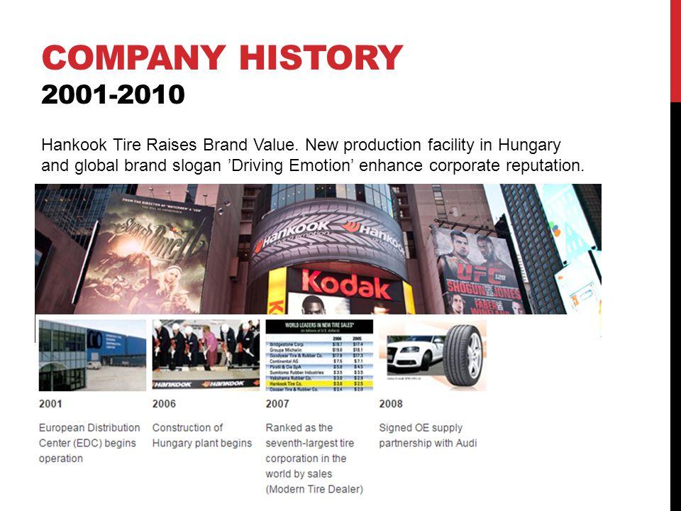 Company history 2001-2010
