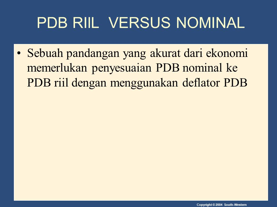 PDB RIlL VERSUS NOMINAL