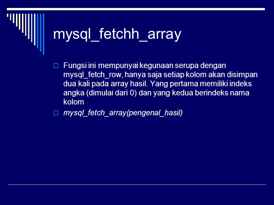 mysql_fetchh_array