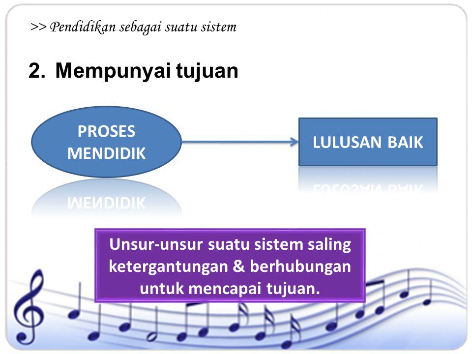 >> Pendidikan sebagai suatu sistem