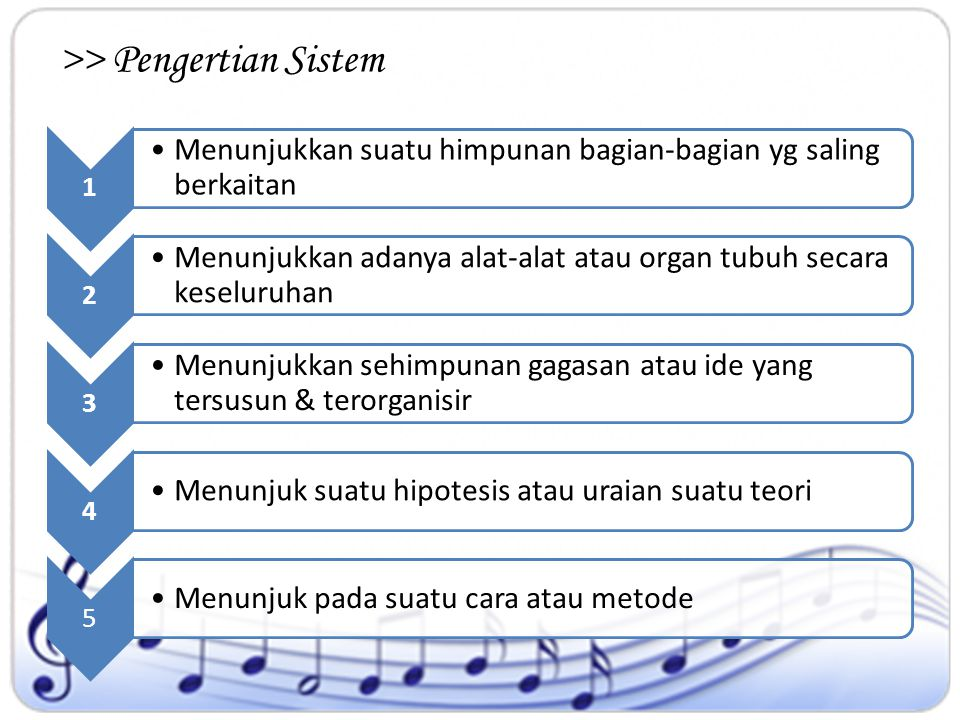>> Pengertian Sistem