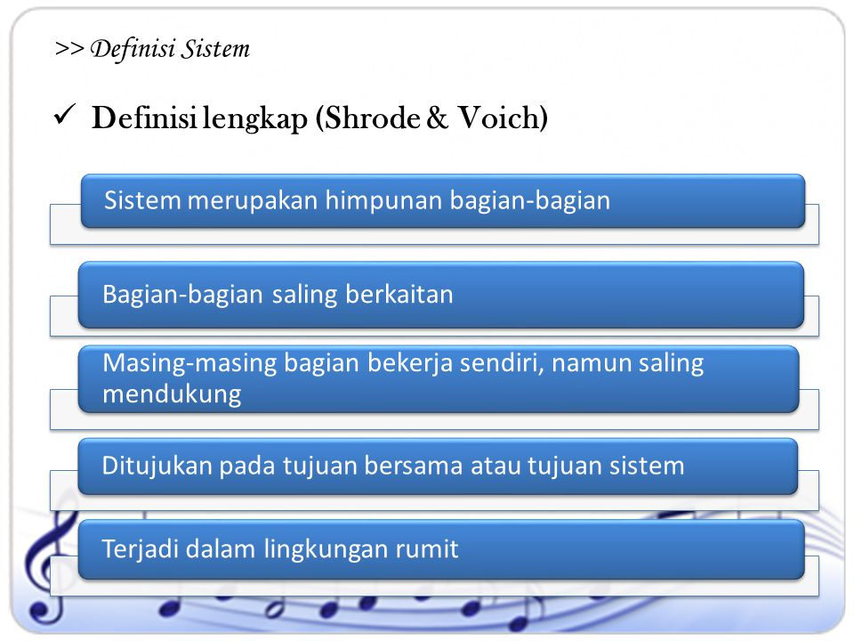 >> Definisi Sistem