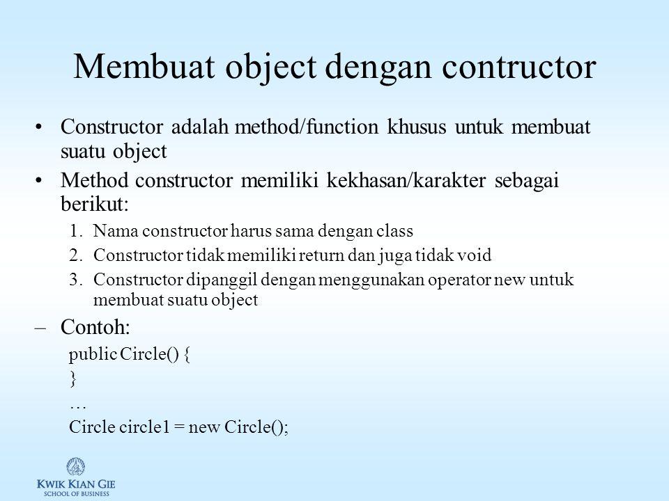 Membuat object dengan contructor