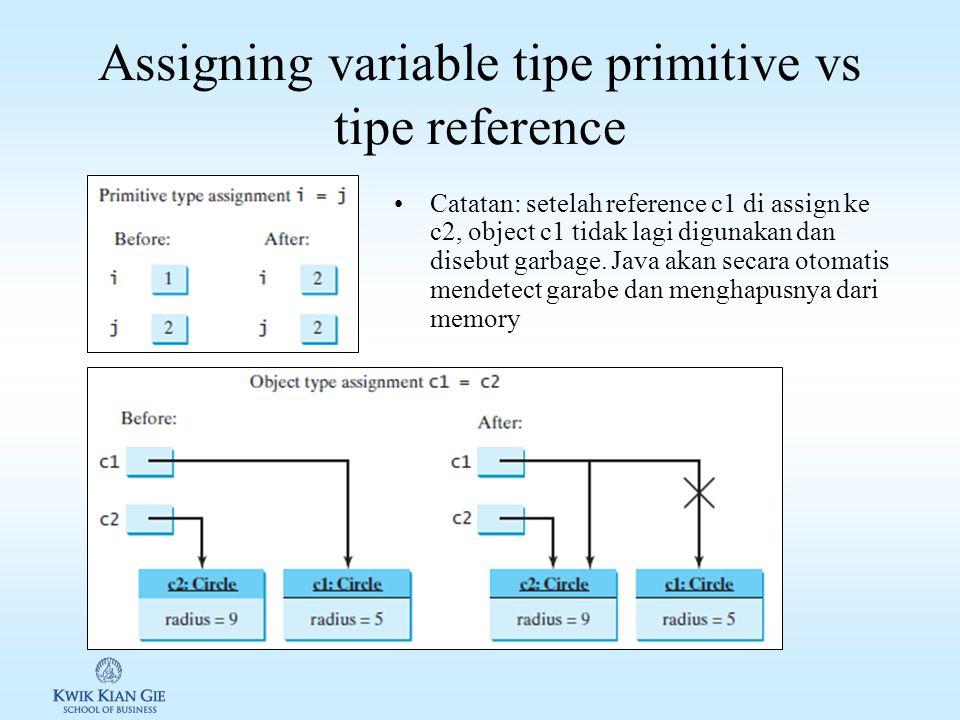 Assigning variable tipe primitive vs tipe reference