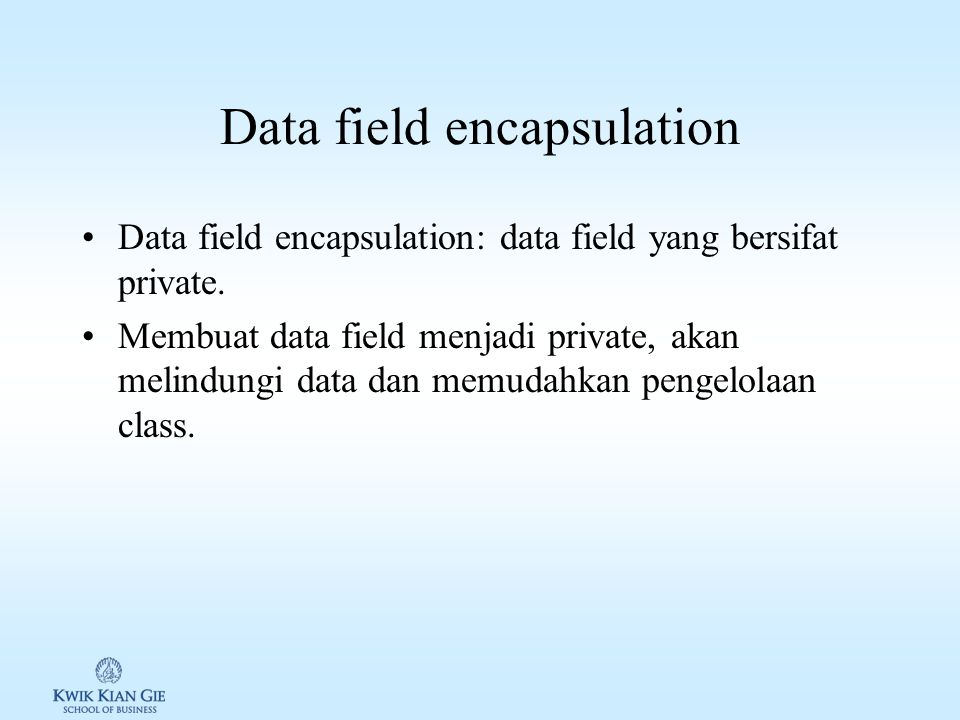 Data field encapsulation