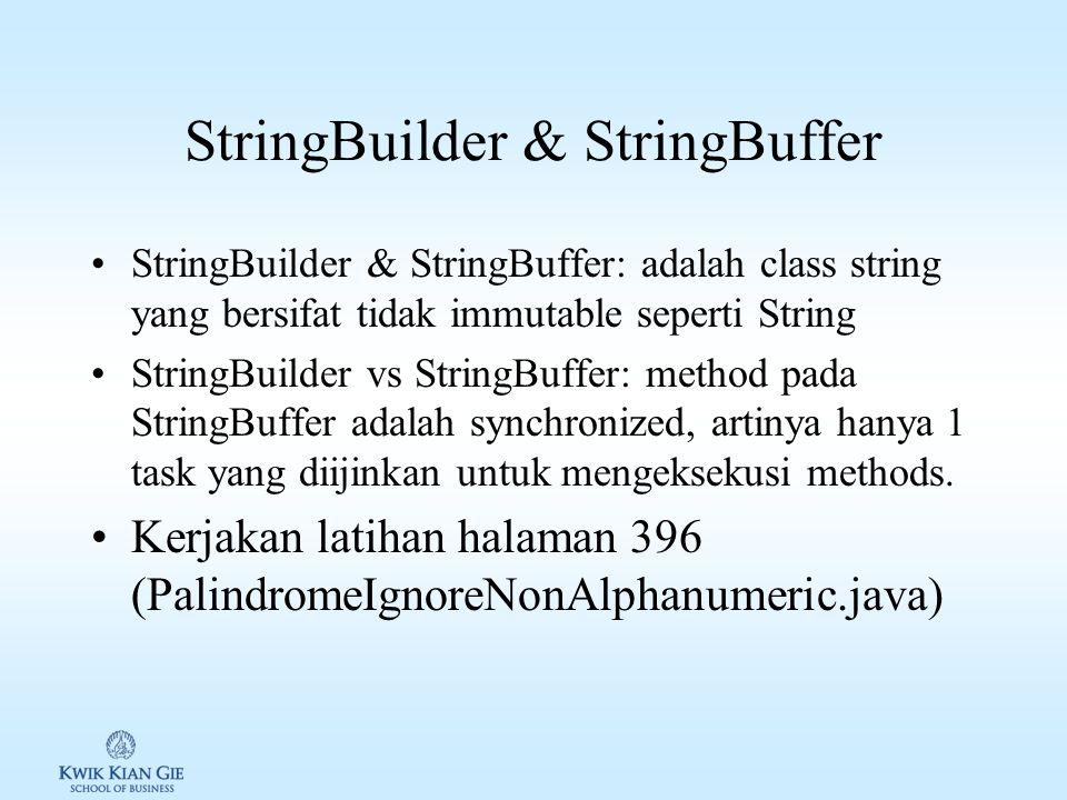 StringBuilder & StringBuffer