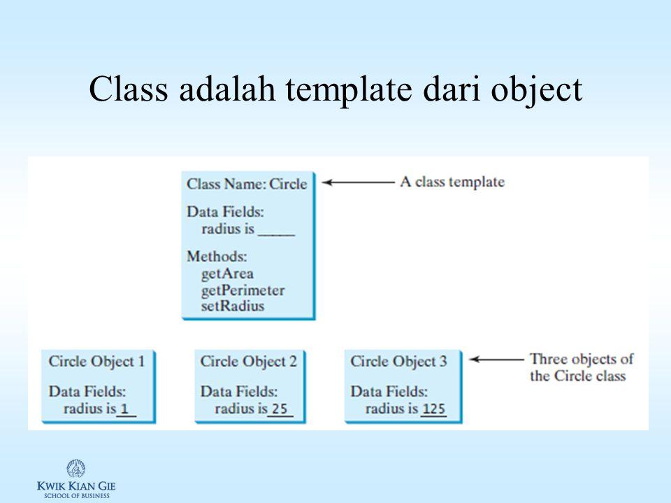 Class adalah template dari object