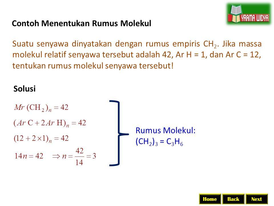 Contoh Menentukan Rumus Molekul