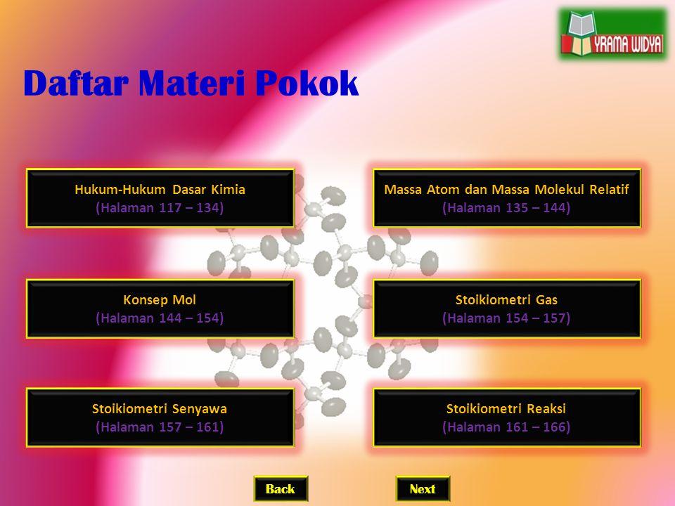 Hukum-Hukum Dasar Kimia Massa Atom dan Massa Molekul Relatif