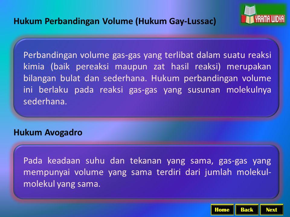 Hukum Perbandingan Volume (Hukum Gay-Lussac)
