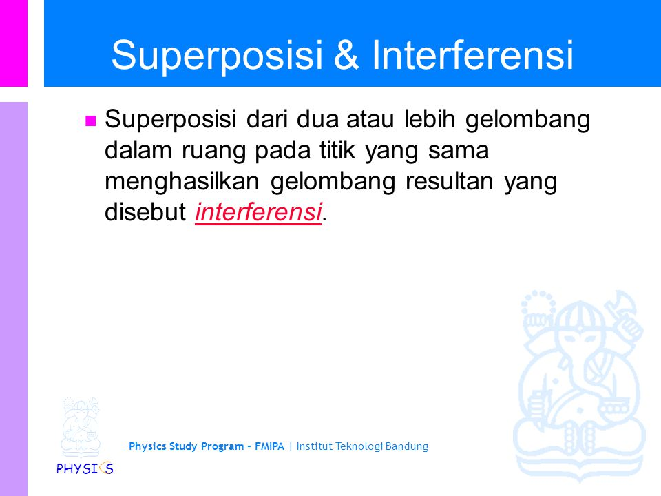 Superposisi & Interferensi