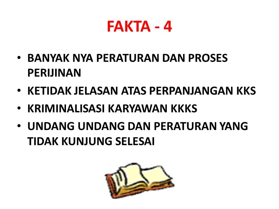 FAKTA - 4 BANYAK NYA PERATURAN DAN PROSES PERIJINAN