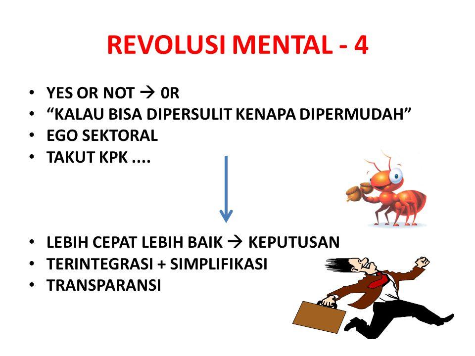 REVOLUSI MENTAL - 4 YES OR NOT  0R