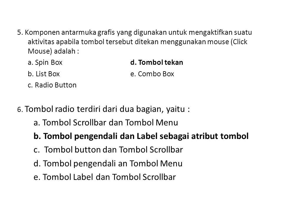 a. Tombol Scrollbar dan Tombol Menu