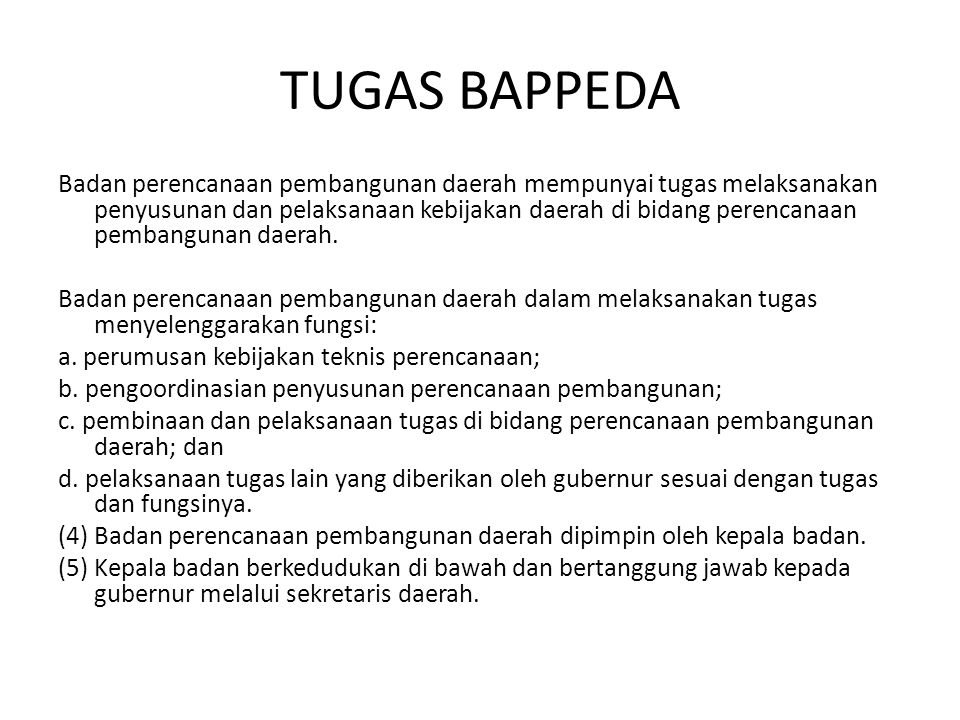 TUGAS BAPPEDA