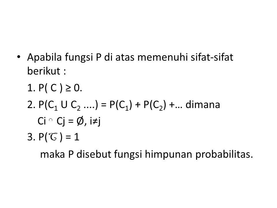 Apabila fungsi P di atas memenuhi sifat-sifat berikut :