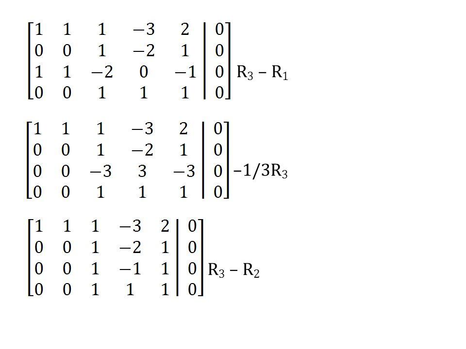 R3 – R1 –1/3R3 R3 – R2