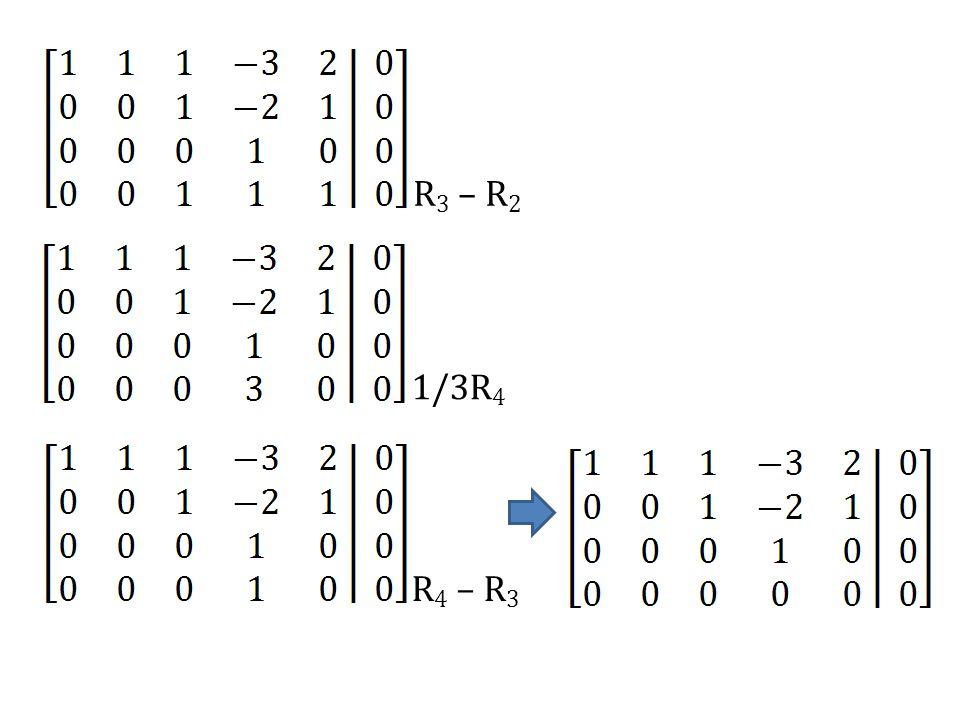 R3 – R2 1/3R4 R4 – R3