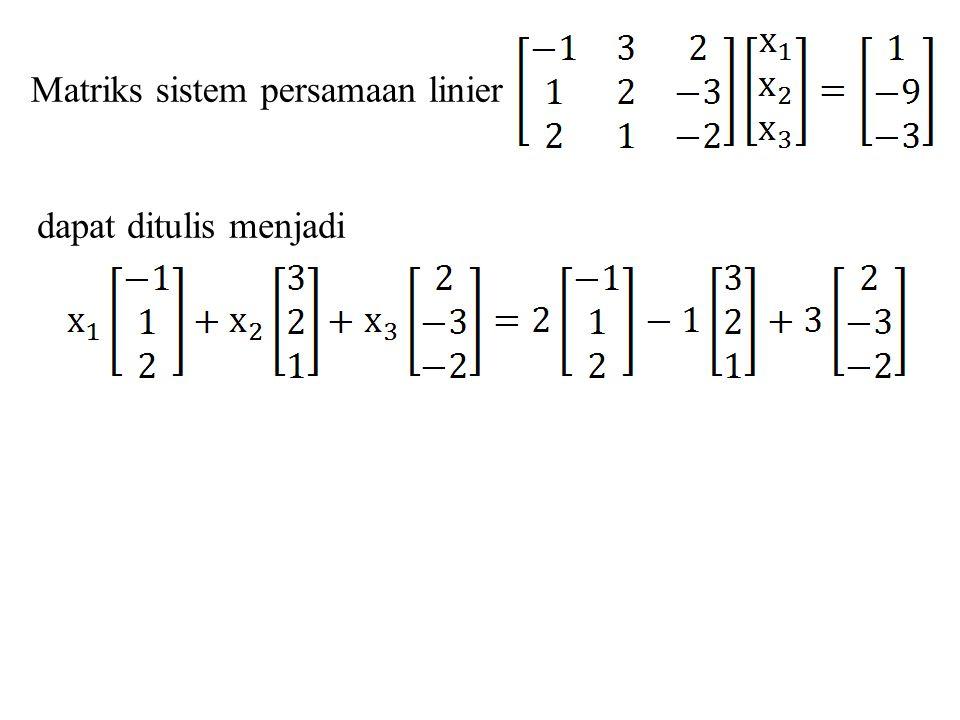 Matriks sistem persamaan linier
