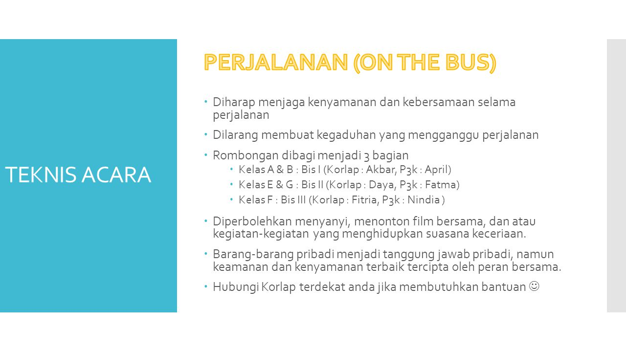 PERJALANAN (ON THE BUS)