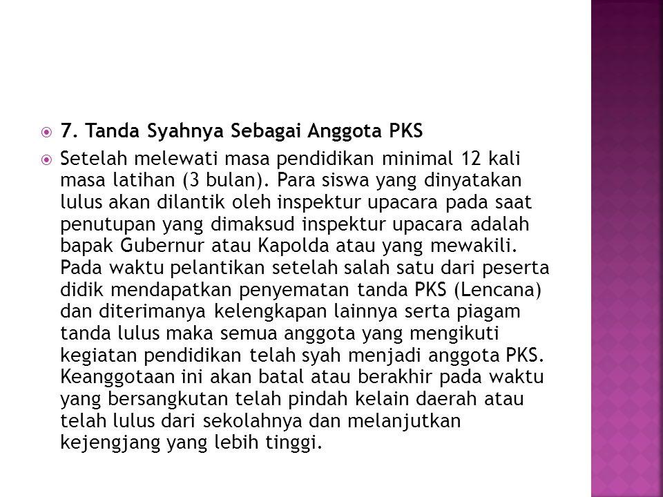 7. Tanda Syahnya Sebagai Anggota PKS