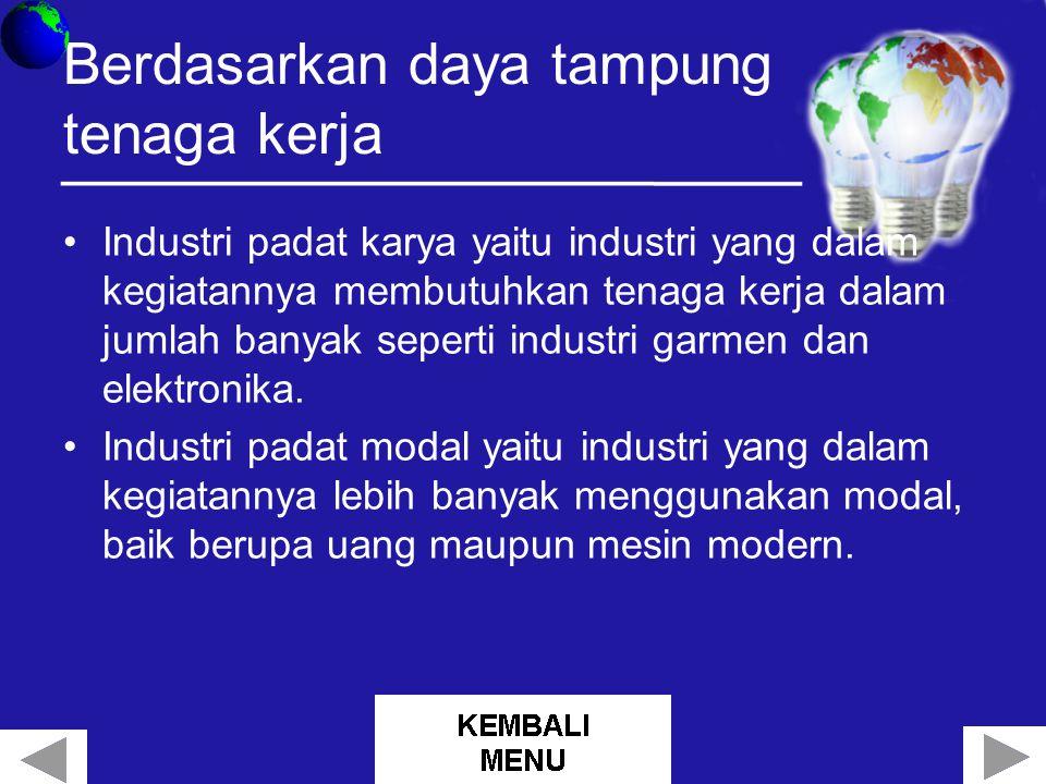 Berdasarkan daya tampung tenaga kerja