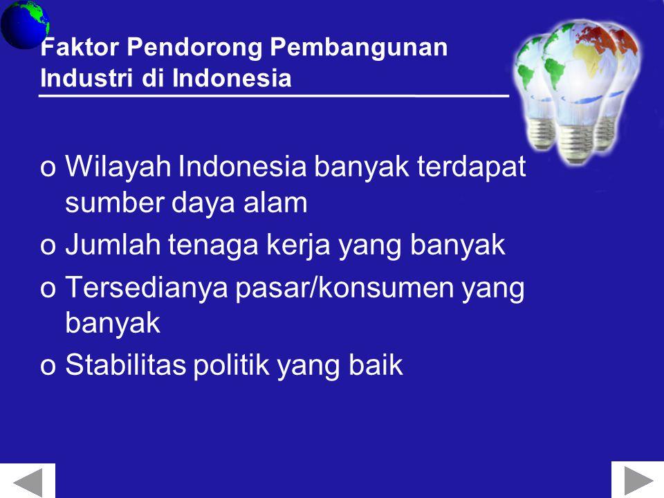 Faktor Pendorong Pembangunan Industri di Indonesia