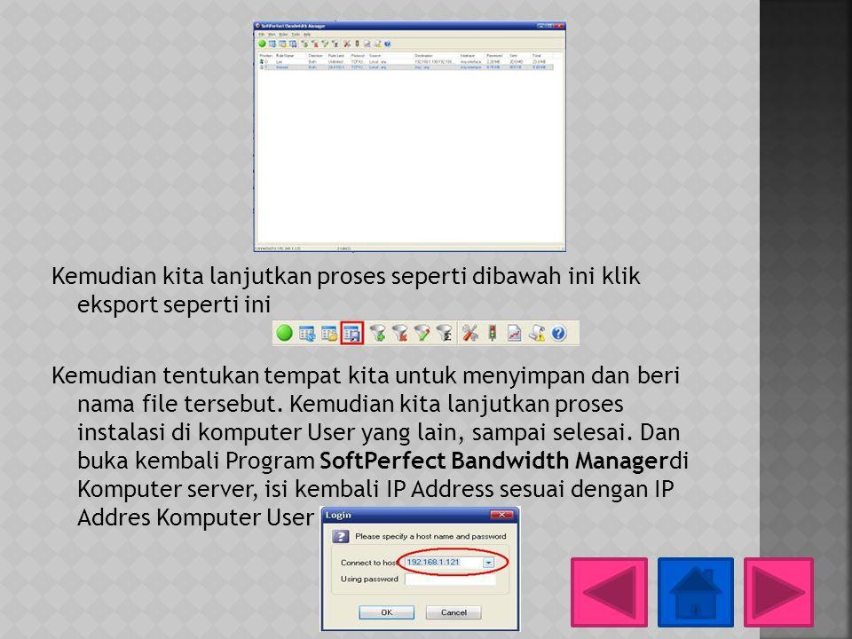 Kemudian kita lanjutkan proses seperti dibawah ini klik eksport seperti ini Kemudian tentukan tempat kita untuk menyimpan dan beri nama file tersebut.