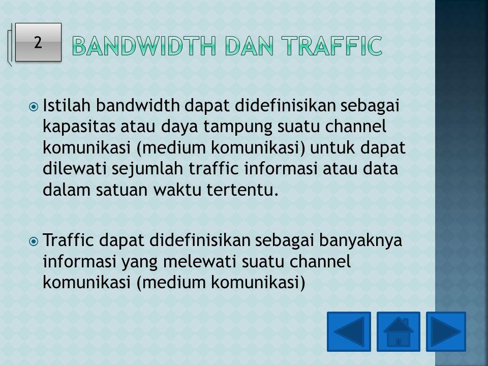 Bandwidth dan Traffic 2.