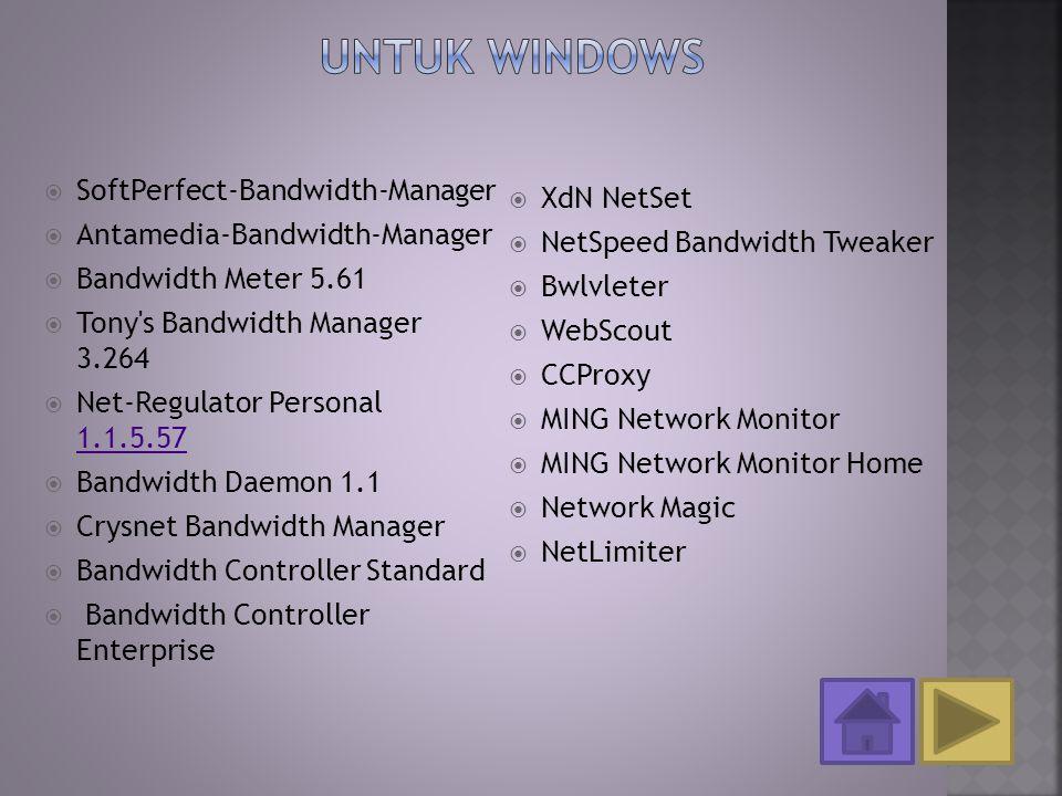 Untuk Windows SoftPerfect-Bandwidth-Manager XdN NetSet